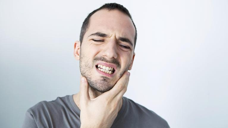 Patient with TMJ and jaw pain